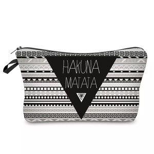 Handbags - Tribal Travel Cosmetic Pouch Bag Hakuna Matata